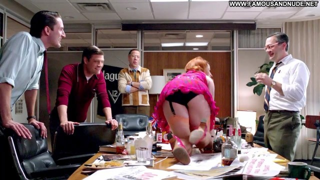Meghan Bradley Mad Men Table Ass Panties Stockings Upskirt Nude Sexy