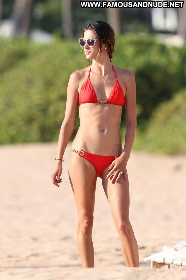 Alessandra Ambrosio No Source Posing Hot Celebrity Bikini Posing Hot