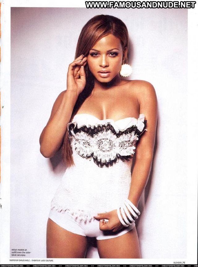 Christina Milian Famous Nude Scene Actress Showing Tits Doll