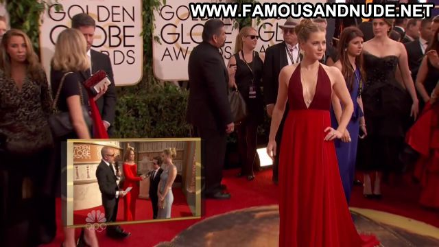 Amy Adams Golden Globe Awards 2014 Showing Cleavage Blonde