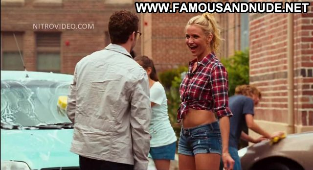 Cameron Diaz Bad Teacher Car Wash Posing Hot Blonde Actress