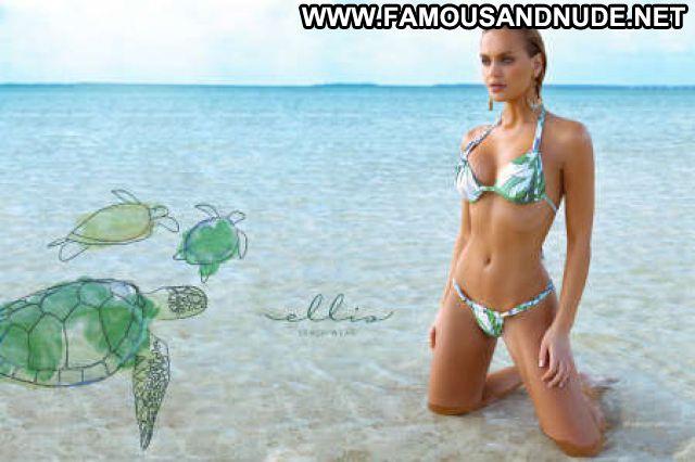 Elisandra Tomacheski Blonde Babe Celebrity Blue Eyes Bikini Famous