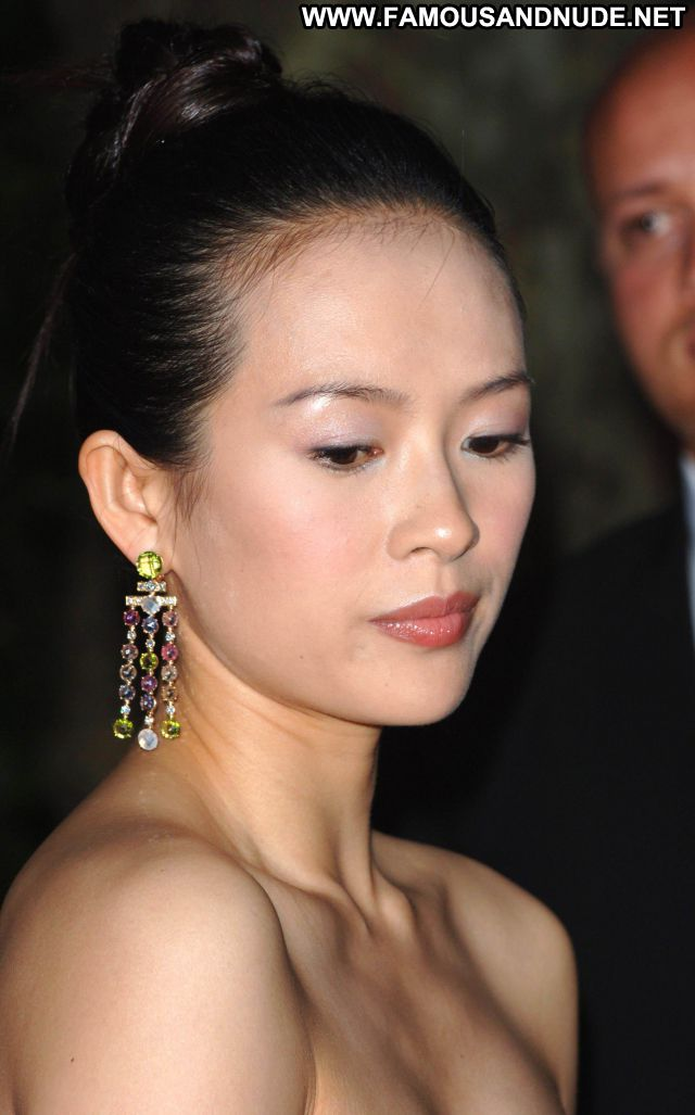 Zhang Ziyi No Source Asian Hot Celebrity Sexy Dress Babe Posing Hot