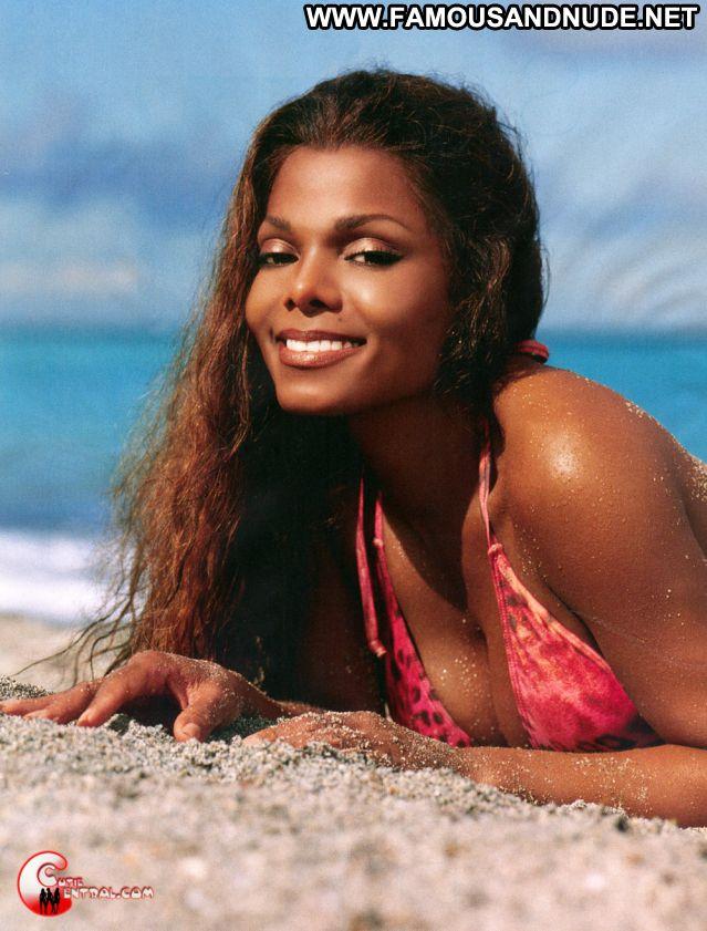Janet Jackson No Source Posing Hot Lingerie Posing Hot Famous Bikini