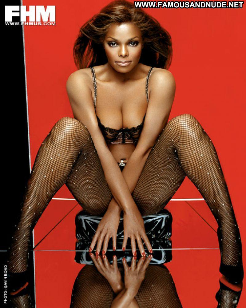 Janet Jackson No Source Celebrity Posing Hot Babe Ebony -8964