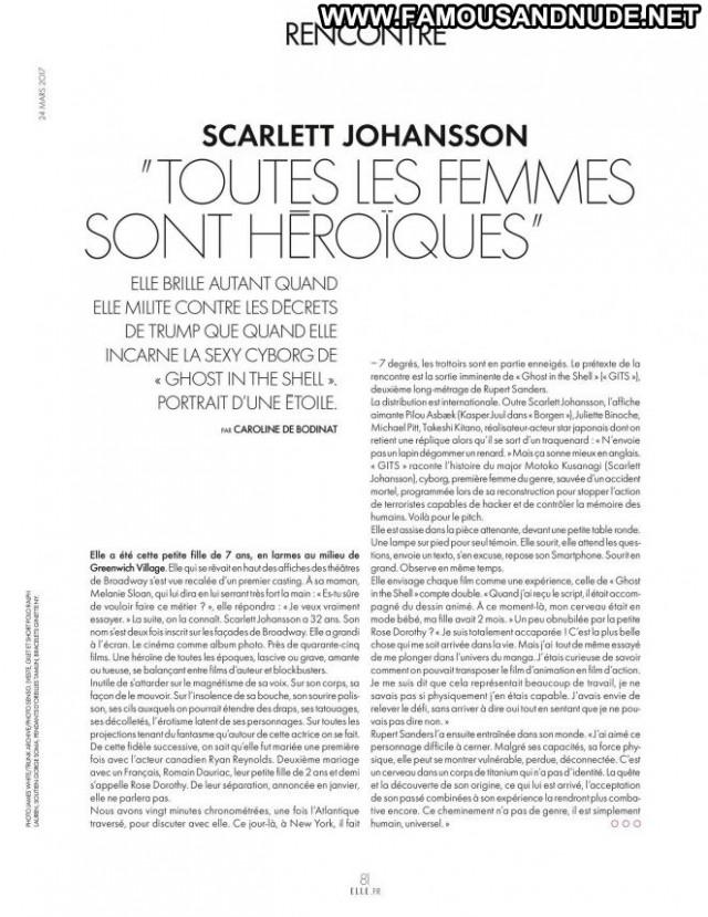 Scarlett Johansson Elle France Beautiful Celebrity France Babe Posing