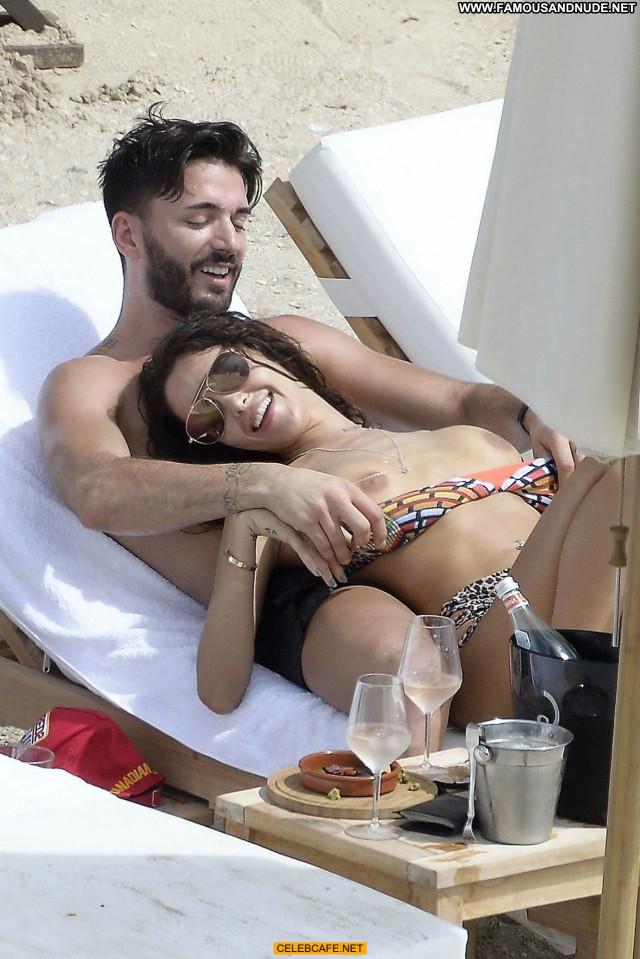 Nabilla Benattia No Source Beach Beautiful Celebrity Toples Bar