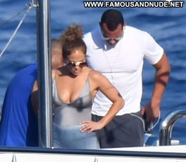 Jennifer Lopez No Source Babe Beautiful Swimsuit Paparazzi Boat