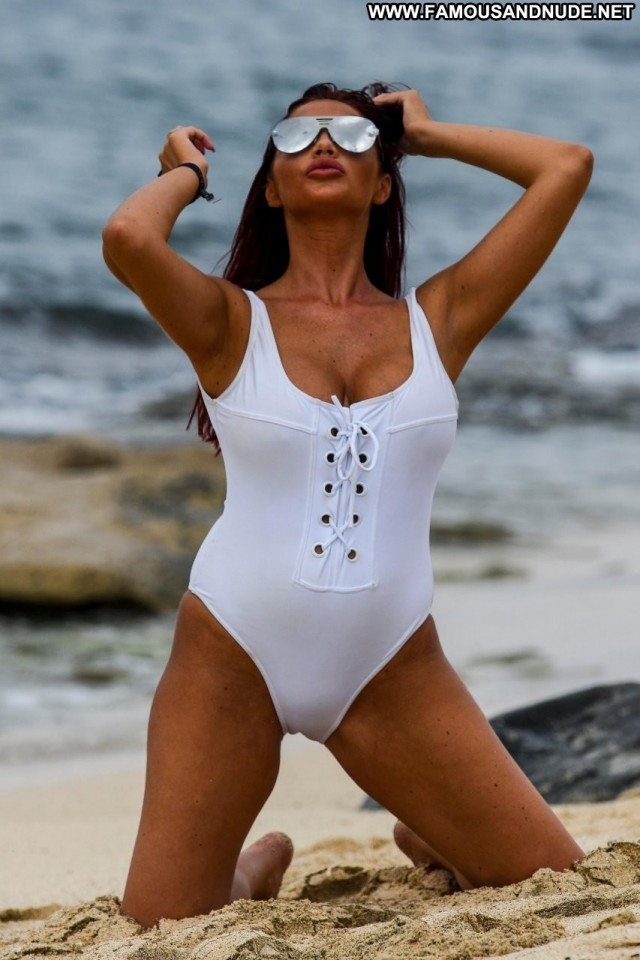 Amy Childs The Beach Desi Swimsuit Celebrity Babe Model Beach Sexy