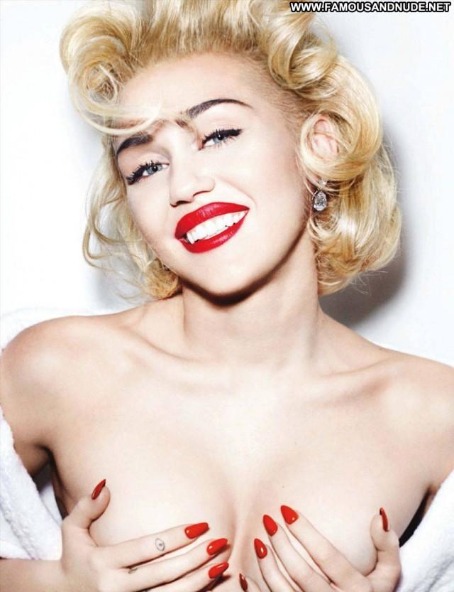 Miley Cyrus Magazine Blonde Celebrity Singer Fashion Nude