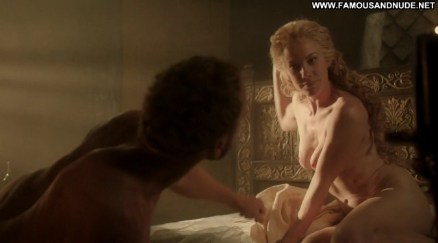 Jeany Spark Da Vincis Demons Bed Breasts Couple Sex Celebrity