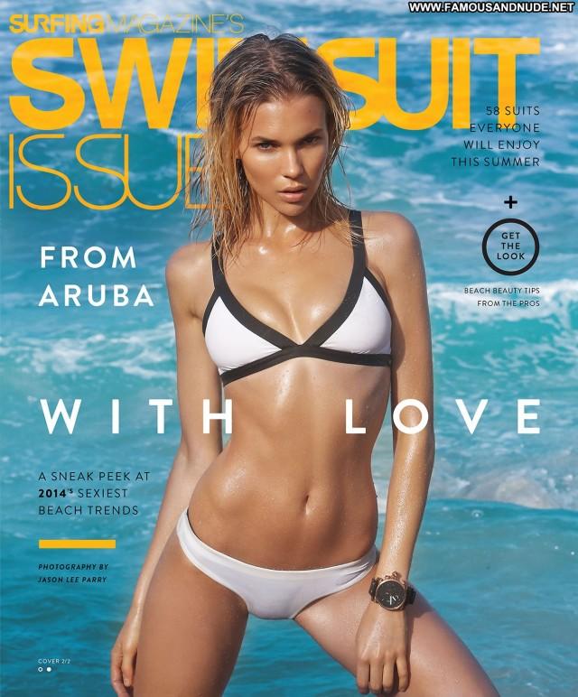 Britt Maren Surfing Magazine Swimsuit Posing Hot Celebrity