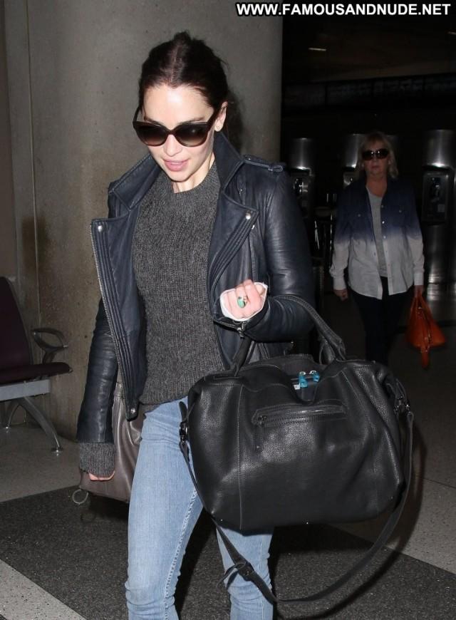 Emilia Clarke Lax Airport  Babe Celebrity Lax Airport Posing Hot