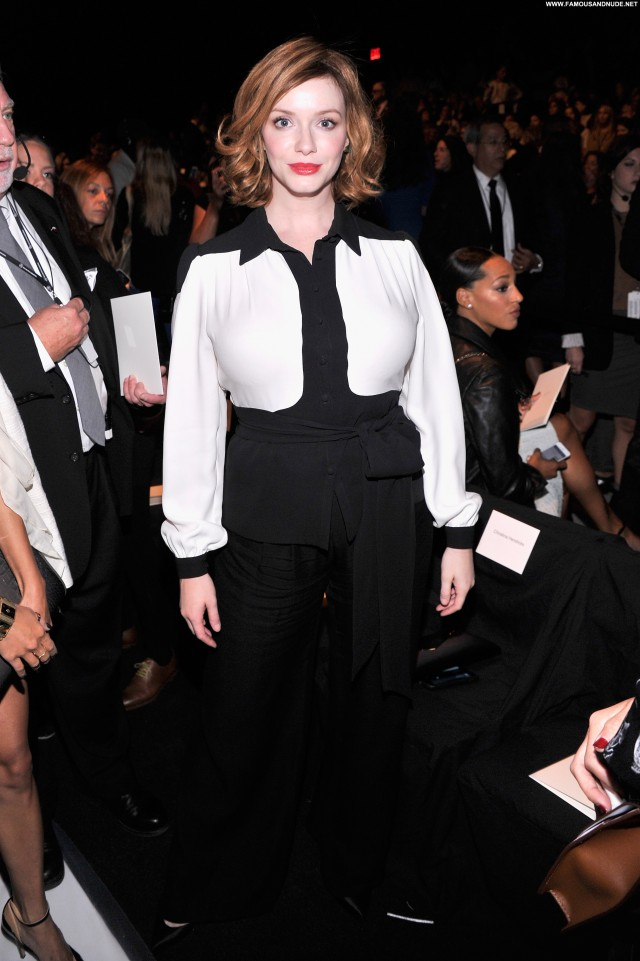 Christina Hendricks Fashion Show Fashion Celebrity New York Babe High