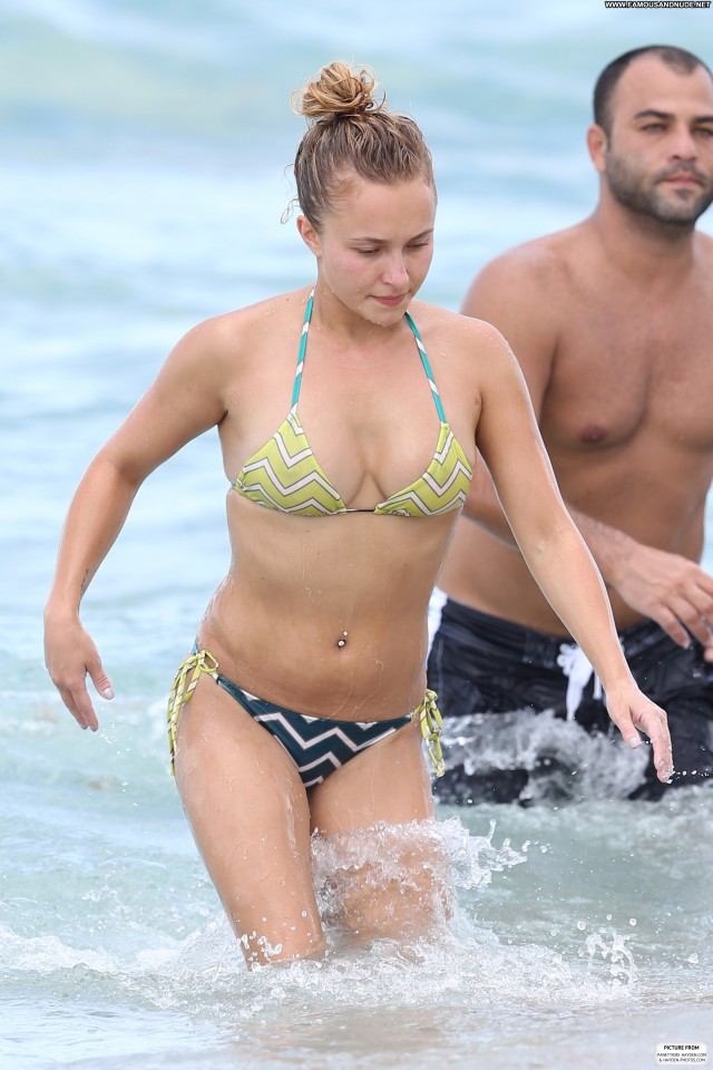 Alessandra Ambrosio Miami Beach Babe High Resolution Celebrity Bikini
