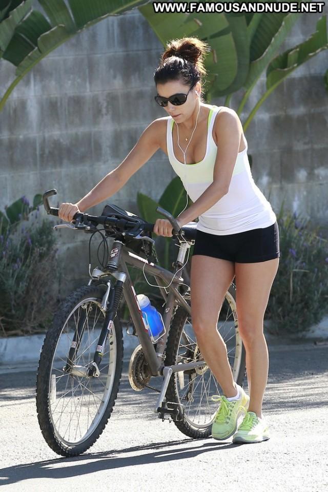 Eva Longoria No Source Celebrity High Resolution Bike Posing Hot Babe