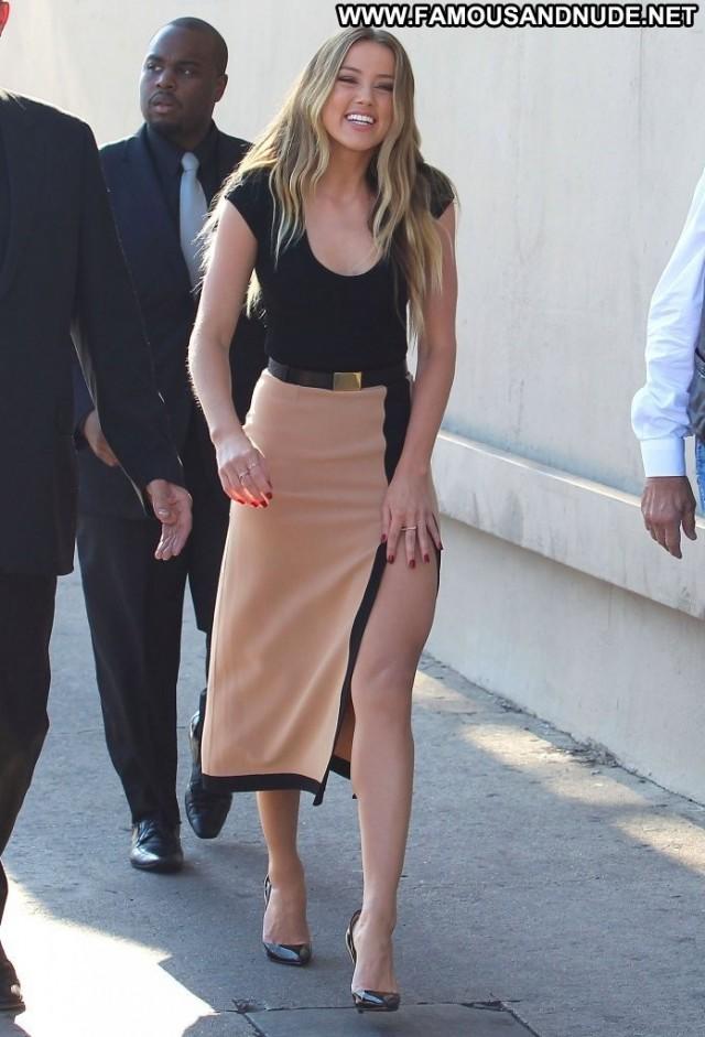 Amber Heard Jimmy Kimmel Live Posing Hot High Resolution Babe