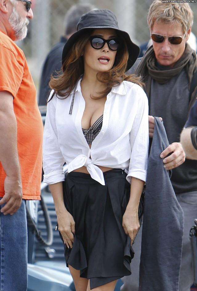 Salma Hayek Los Angeles Beautiful Posing Hot Celebrity Candids Babe