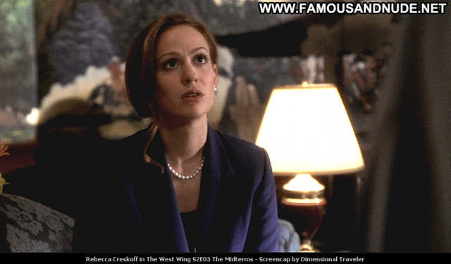 Rebecca Creskoff The West Wing Beautiful Tv Series Posing Hot Babe