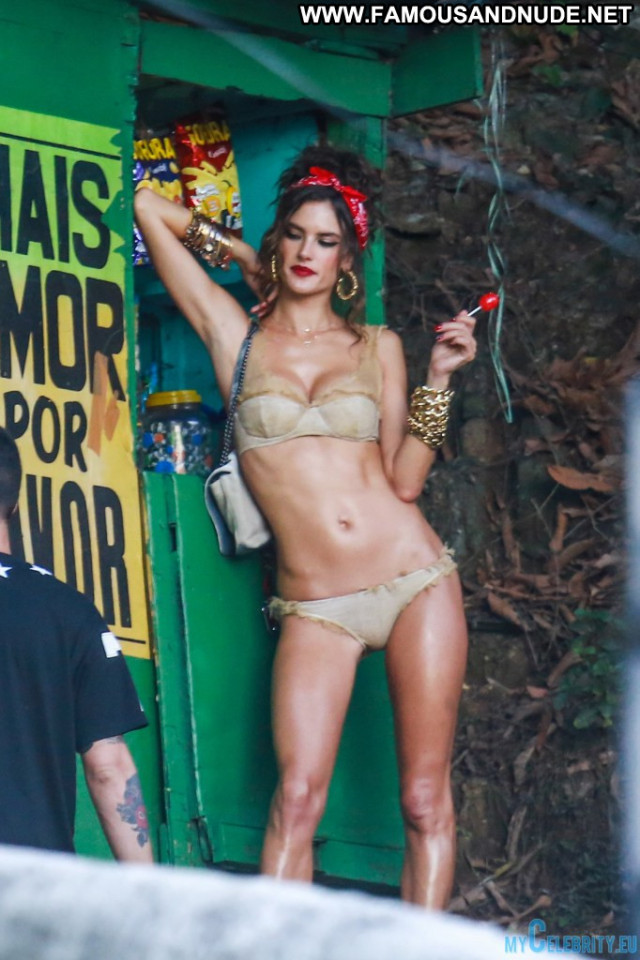 Alessandra Ambrosio No Source Beautiful Bikini Celebrity Swimsuit