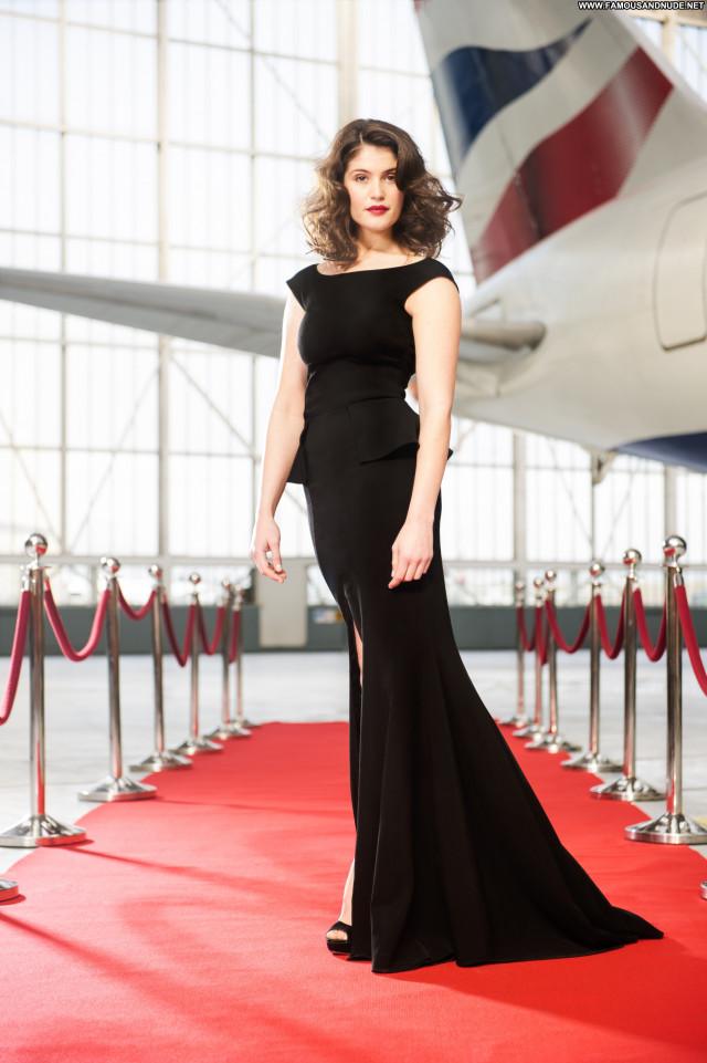 Gemma Arterton Red Carpet Babe Celebrity Posing Hot Beautiful Red